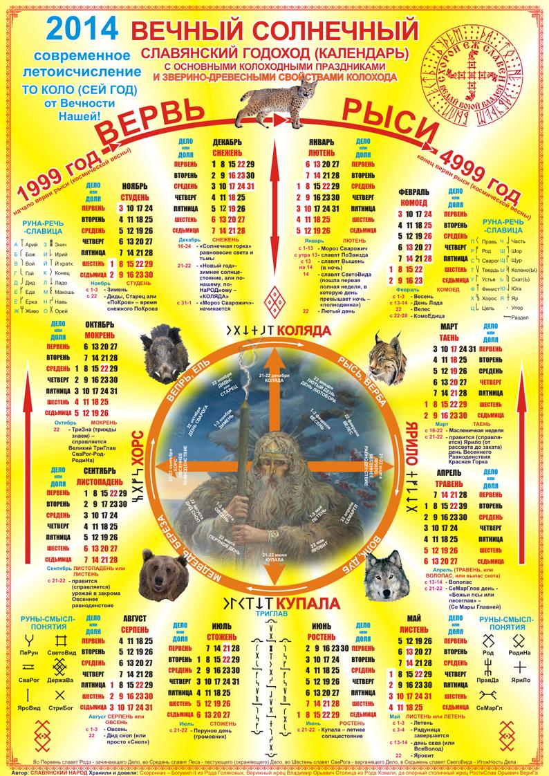 Праздники по языческому календарю